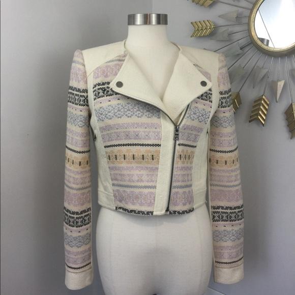 7ec7057832 BCBGMaxAzria Jackets & Blazers - BCBG White Cody Embroidered Woven Jacket